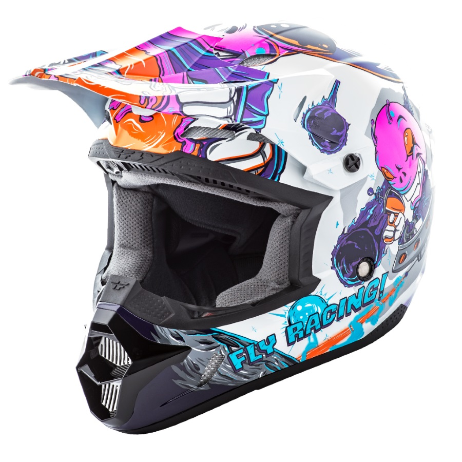 fly racing kinetic youth invasion kinder motocross helm. Black Bedroom Furniture Sets. Home Design Ideas