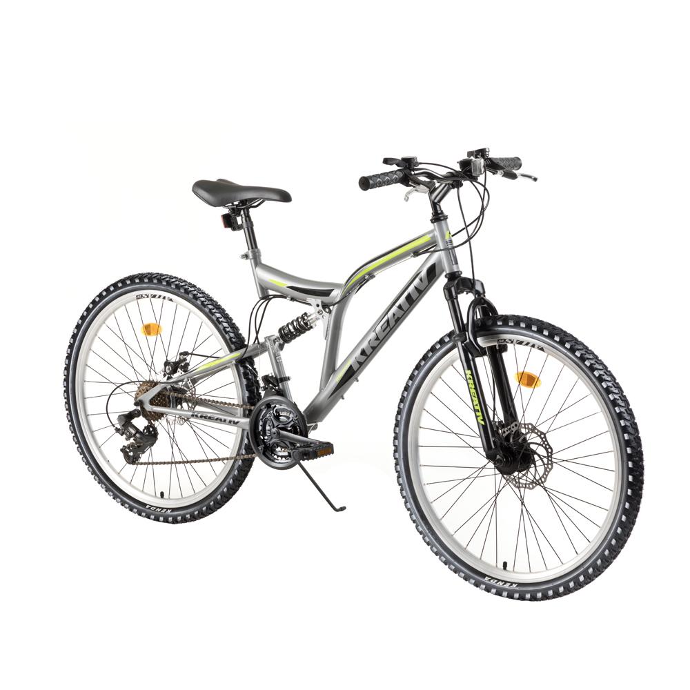kreativ 2643 26 vollgefedertes fahrrad modell 2018 grau insportline. Black Bedroom Furniture Sets. Home Design Ideas