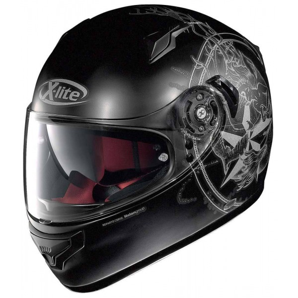 x lite x 661 sirene n com flat black motorradhelm. Black Bedroom Furniture Sets. Home Design Ideas