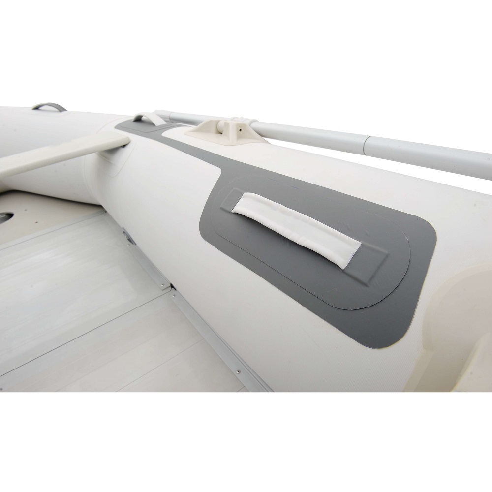 aqua marina deluxe 2 5 m schlauchboot mit aufblasbarem. Black Bedroom Furniture Sets. Home Design Ideas