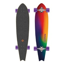 Longboard Street Surfing Fishtail - Sunset Blur 42""