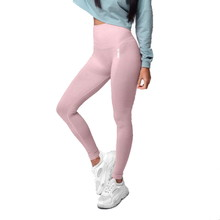 Boco Wear Coral Cloud Melange Shape Push Up Damen Leggings - hellrosa