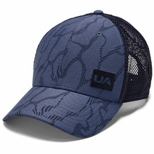 Under Armour Men's Blitzing Trucker 3.0 Kappe - Blue Ink