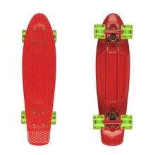 "Fish Classic 22"" Penny Board - Red-Red-Transparent Green"