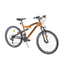 "DHS 2445 24"" Vollgefedertes Junioren Fahrrad - Modell 2019 - Orange"