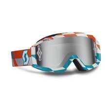 Motorradbrille Scott Hustle MXV - orange-blau