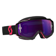 SCOTT Hustle MX CH MXVII Crossbrille - black-fluo pink-purple chrome