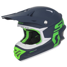 SCOTT 350 Pro MXVII Motocross Helm - Blue-Green