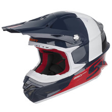 SCOTT 350 Pro Track MXVII Motocross Helm - Blue-Red