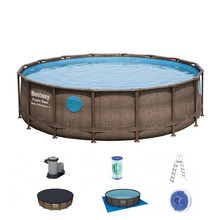 Bestway Rattan Swim Vista 488 x 122 cm Pool mit Filter