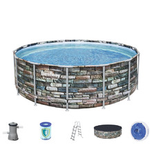 Bestway Power Steel Stone 427 x 122 cm Pool mit Filter