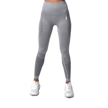 Boco Wear Sparkle Grey Melange Shape Push Up Damen Leggings - grau