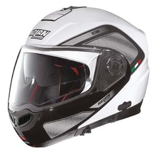 Motorradhelm Nolan N104 Absolute Tech N-Com - Metal White