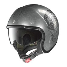 Nolan N21 Speed Junkies Scratched Chrome Motorradhelm - Scratched Chrome