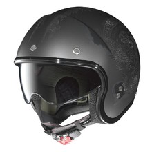 Motorradhelm Nolan N21 Speed Junkies Scratched Chrome - Flat Asphalt-Black
