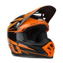 Motocross-Helm BELL Moto-9 - orange-schwarz