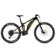 "Ghost Hybride SL AMR S3.7+ AL 29"" - Vollgefedertes Elektrofahrrad Modell 2019 - Night Black / Spectra Yellow / Iridium Silver"