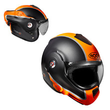 Motorradhelm Roof Desmo Flash Mat - orange