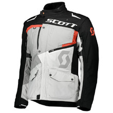 SCOTT Dualraid DP Motorradjacke - Titanium Grey/Orange