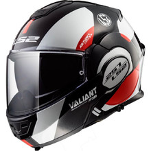 LS2 FF399 Valiant Lumen / H-V Yellow Motorradklapphelm - Avant White Black Red