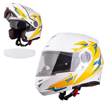 W-TEC Vexamo PI Graphic Klapphelm mit Pinlock - White Graphic