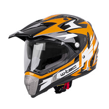 Motorradhelm W-TEC Dualsport - Black-Fluo Orange