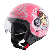 W-TEC FS-701PG Pink Life Rollerhelm