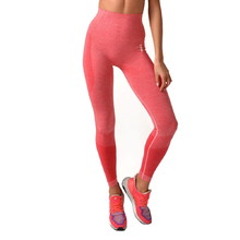 Boco Wear Raspberry Melange Push Up Damen Leggings - rosa