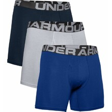 Boxerky Under Armour Charged Cotton 6in 3 Pack - Royal