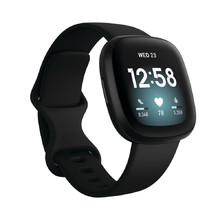 Smart Watch Fitbit Versa 3/Black Aluminum
