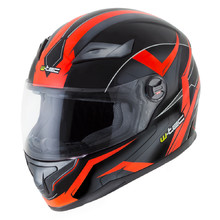 W-TEC FS-811BO Fire Orange Integralhelm - schwarz-orange