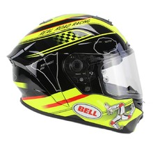 BELL Star Isle Of Man black-yellow Motorradhelm