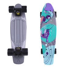 "Fish Print 22"" Penny Board - Black Fish"