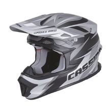 Cassida Cross Pro Motocross-Helm - black matt/grau