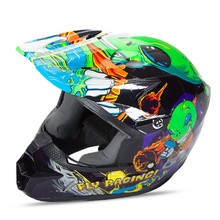Fly Racing Kinetic Youth Invasion Kinder Motocross Helm - grün-schwarz
