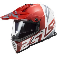 LS2 MX436 Pioneer Evo Motorradhelm - Evolve Red White