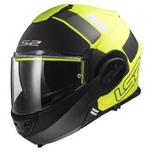 LS2 FF399 Valiant Lumen / H-V Yellow Motorradklapphelm - Prox Matt H-V Yellow Black