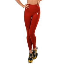 Boco Wear Red Plain Push Up Damen Leggings - rot