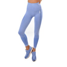 Boco Wear Blue Melange Push Up Damen Leggings - blau