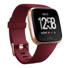 Fitbit Versa Merlot Band/Rose Gold Case kluge Uhr