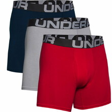 Boxerky Under Armour Charged Cotton 6in 3 Pack - Rot
