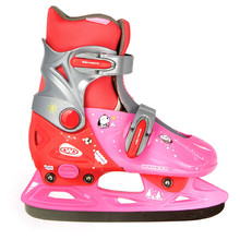 Kinder-Schlittschuhe WORKER Kelly - rosa-rot