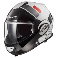 LS2 FF399 Valiant Lumen / H-V Yellow Motorradklapphelm - Prox White Black Red